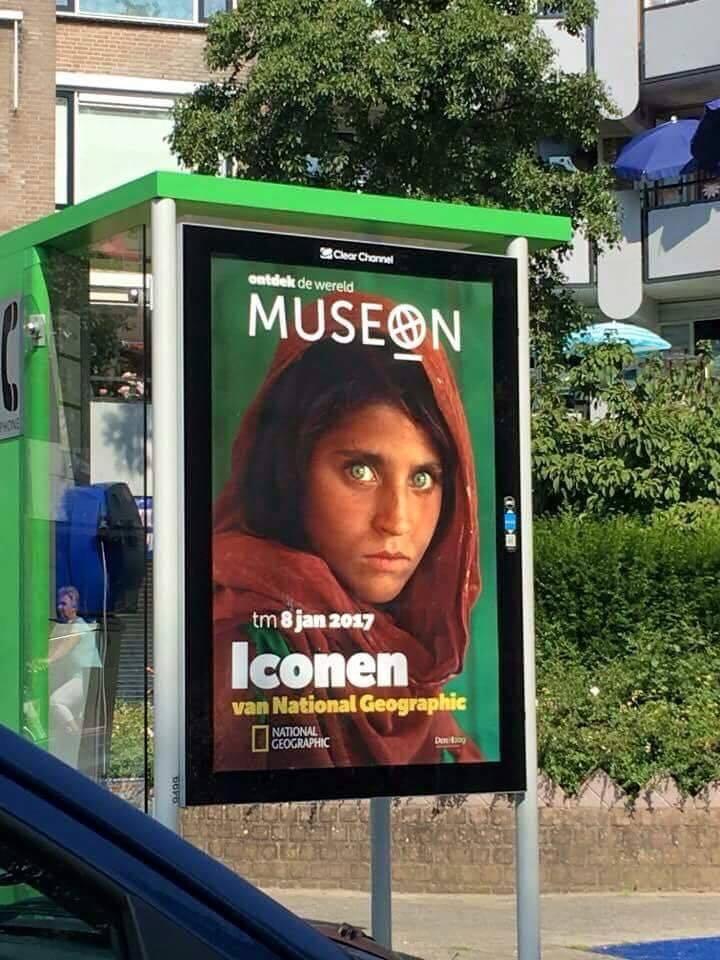 """Плакат с изображением """"Афганской Мона Лизы"""". Ноябрь 2016 г. Источник фото: Facebook, пользователь Dr Omar Zakhilwal."""