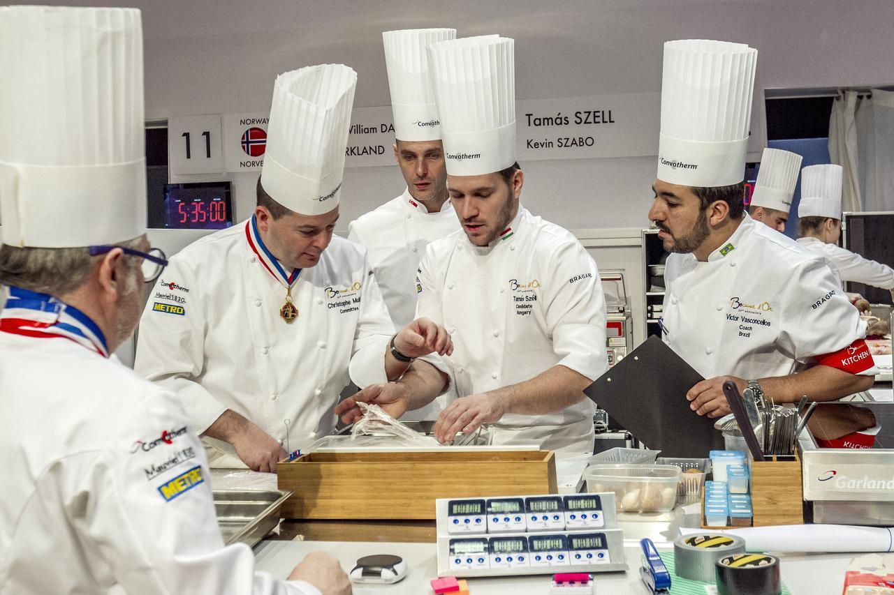 Бразильский судья проверяет готовность венгерской команды к началу конкурса. Источник http://mork.nyugat.hu/