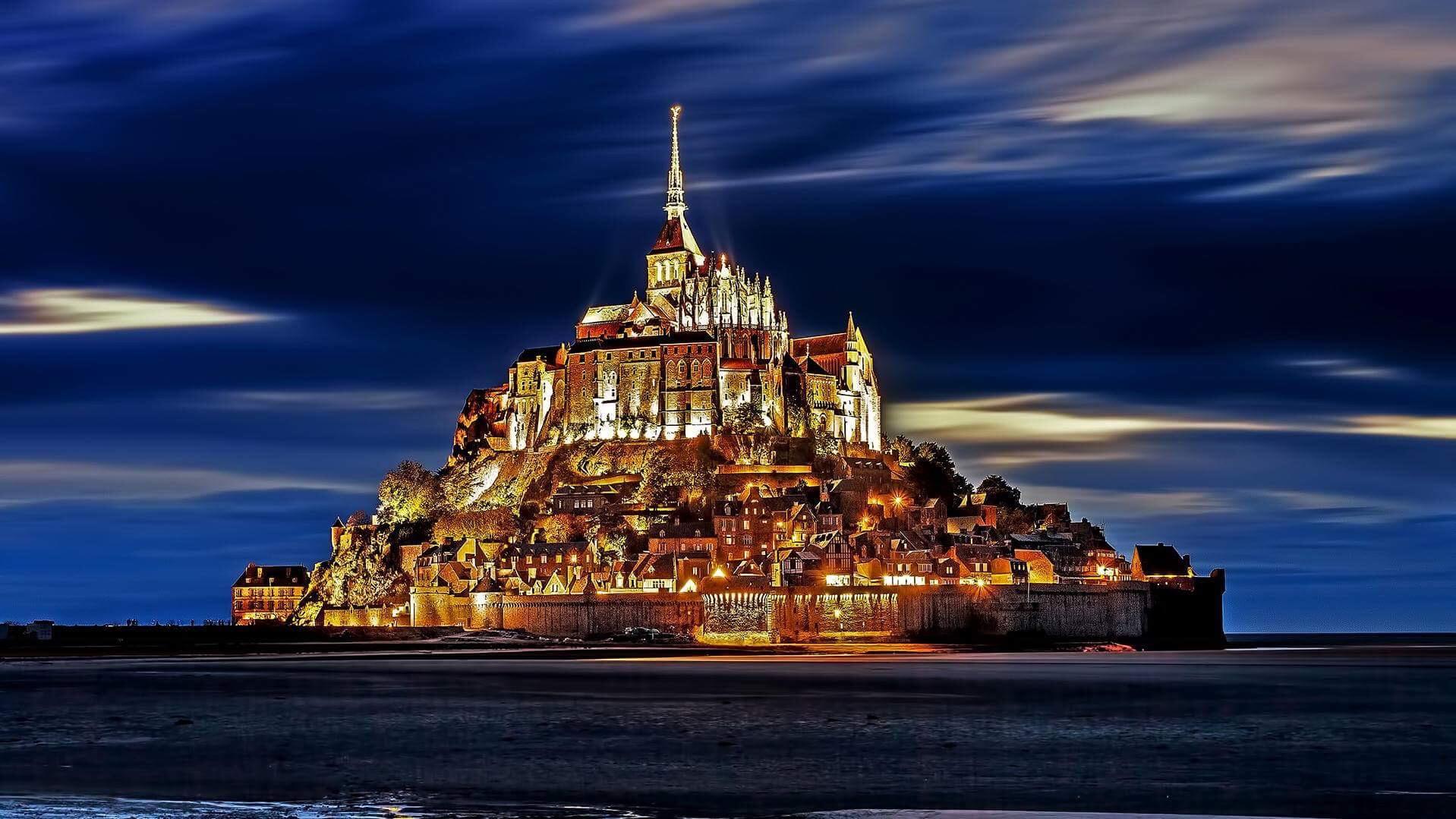Мон-Сен-Мишель, Нормандия, Франция. Источник фото: sina.com.cn, пользователь wim denijs.