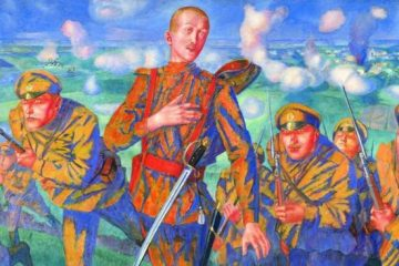 Кузьма Сергеевич Петров-Водкин. На линии огня (Сражение). 1916. Государственный русский музей, Санкт-Петербург, Россия.