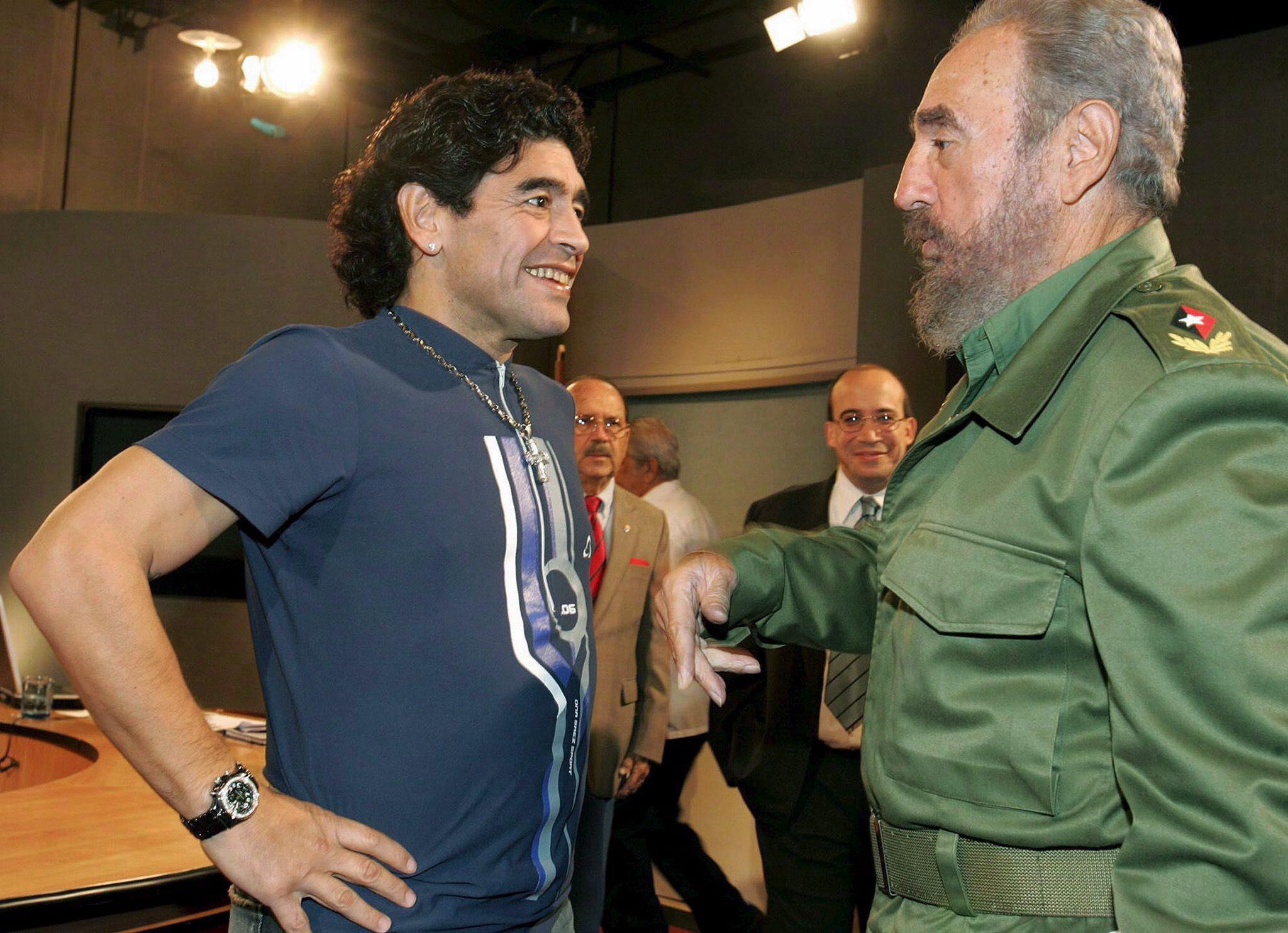 Марадона и Кастро искренне восхищались друг другом.