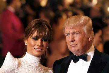 Избранный Президент США и будущая первая леди.
