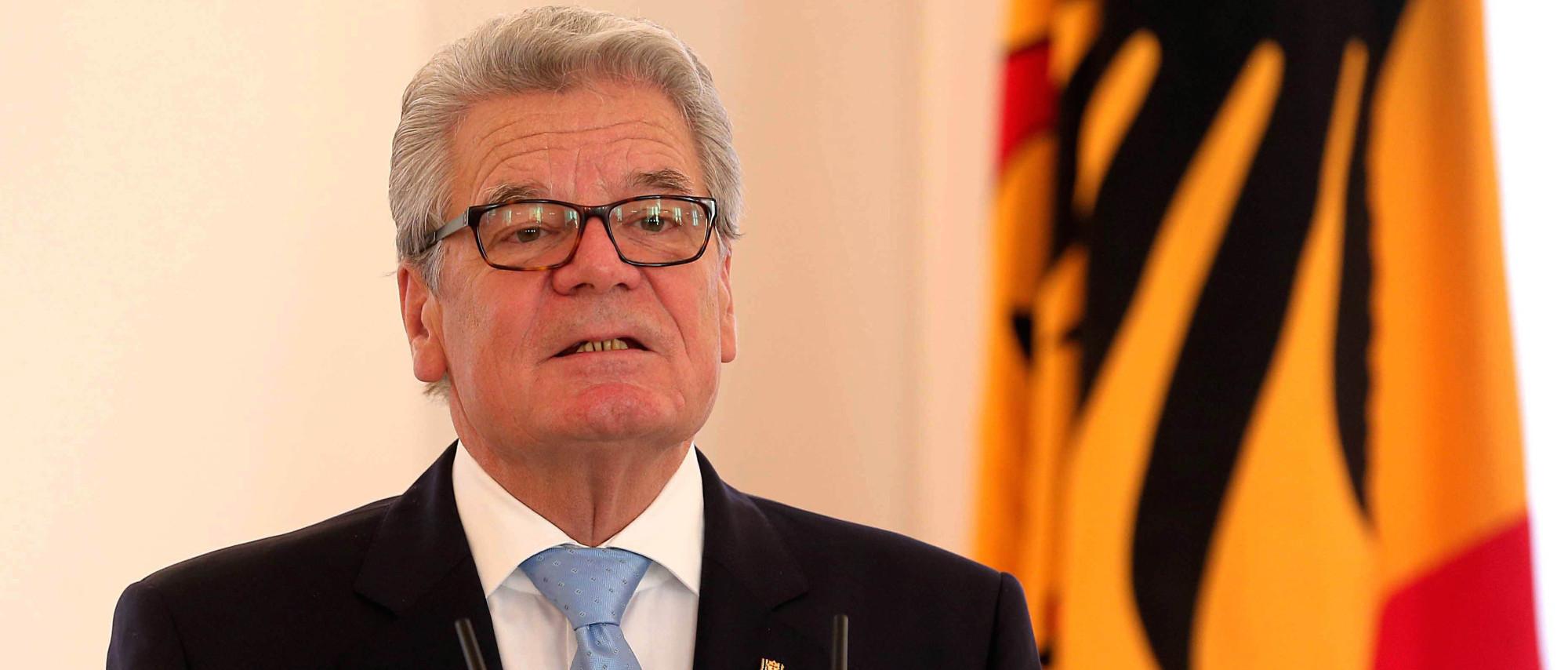 Президент Германии Йоахим Гаук выразил озабоченность судьбой Евросоюза.