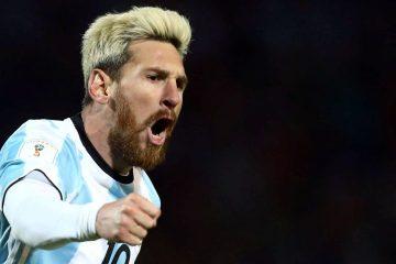 Месси в новом имидже, но по-прежнему в футболке сборной Аргентины.