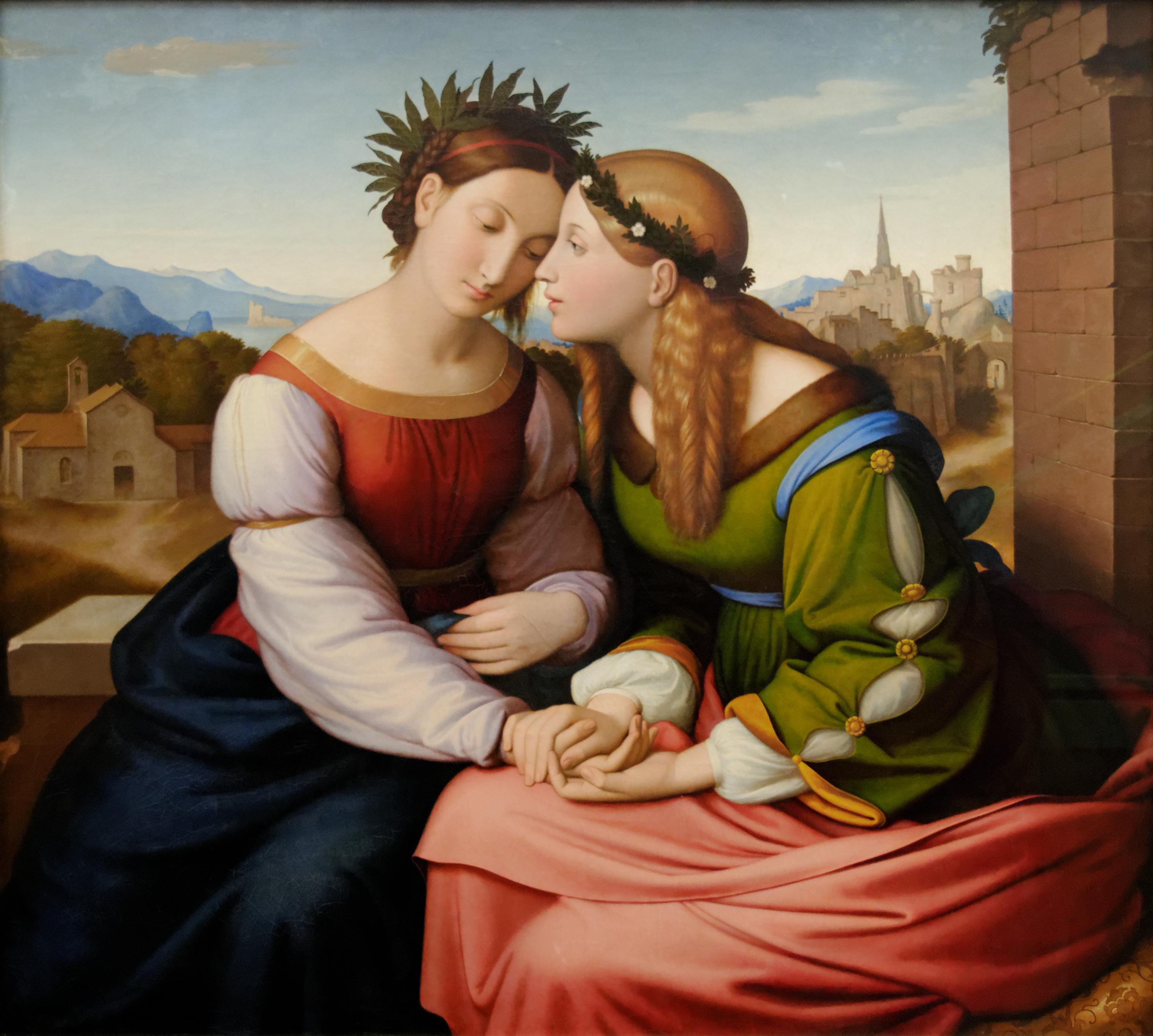 Фридрих Овербек. Италия и Германия. 1811-1828. Масло, холст. 94х104 см. Новая Пинакотека, Мюнхен.