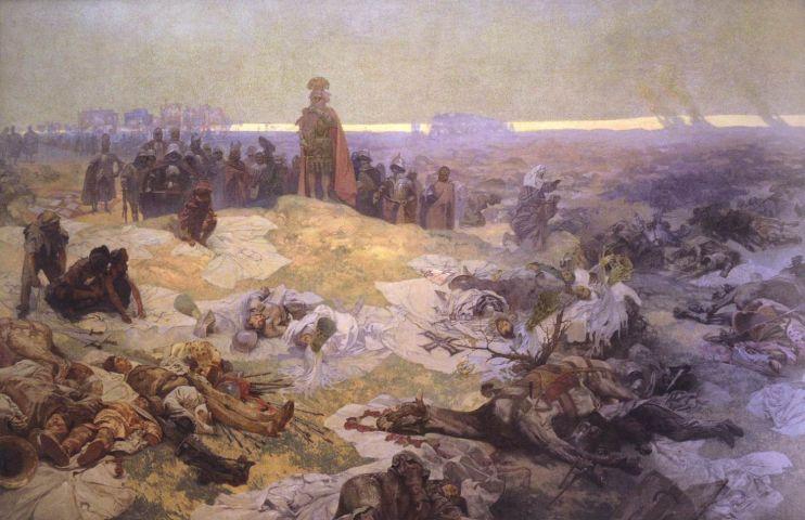 Альфонс Муха. После Грюнвальдской битвы. 1924. Масло, холст. 610х810 см.