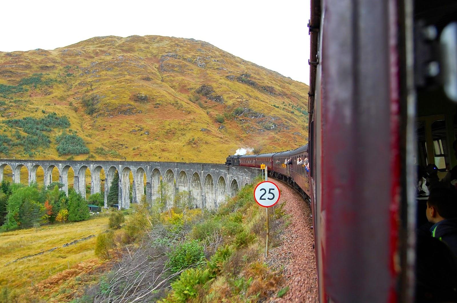 Скорость движения по виадуку ограничена, поэтому пассажиры поезда успевают рассмотреть окружающие красоты и сфотографироваться.