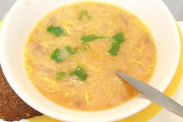 Классический баварский пивной суп.
