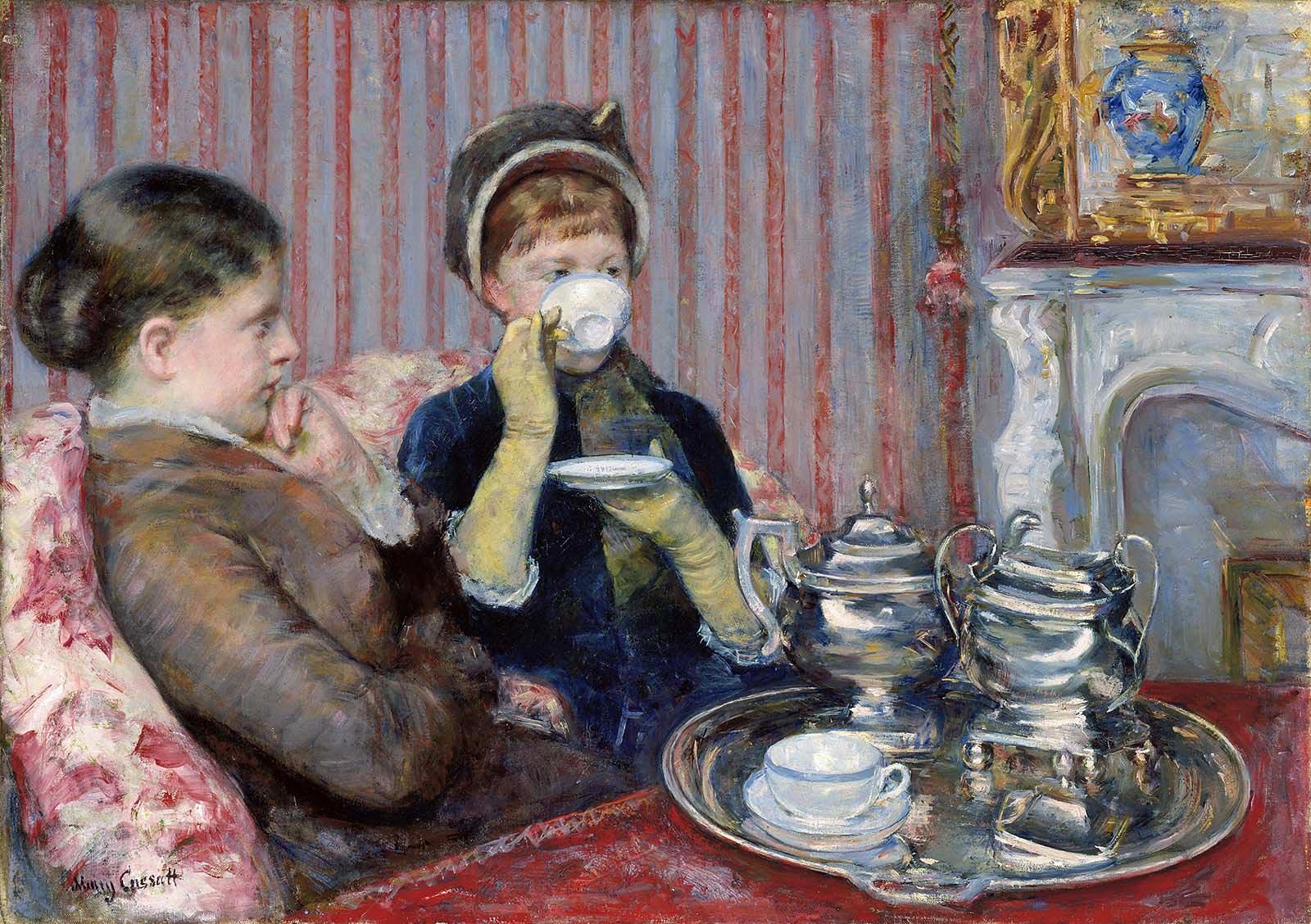 Мэри Кассат. Чаепитие (файф-о-клок). 1879-80 г. Масло, холст. 92,7 x 64,77 см. Музей изящных искусств, Бостон, США.