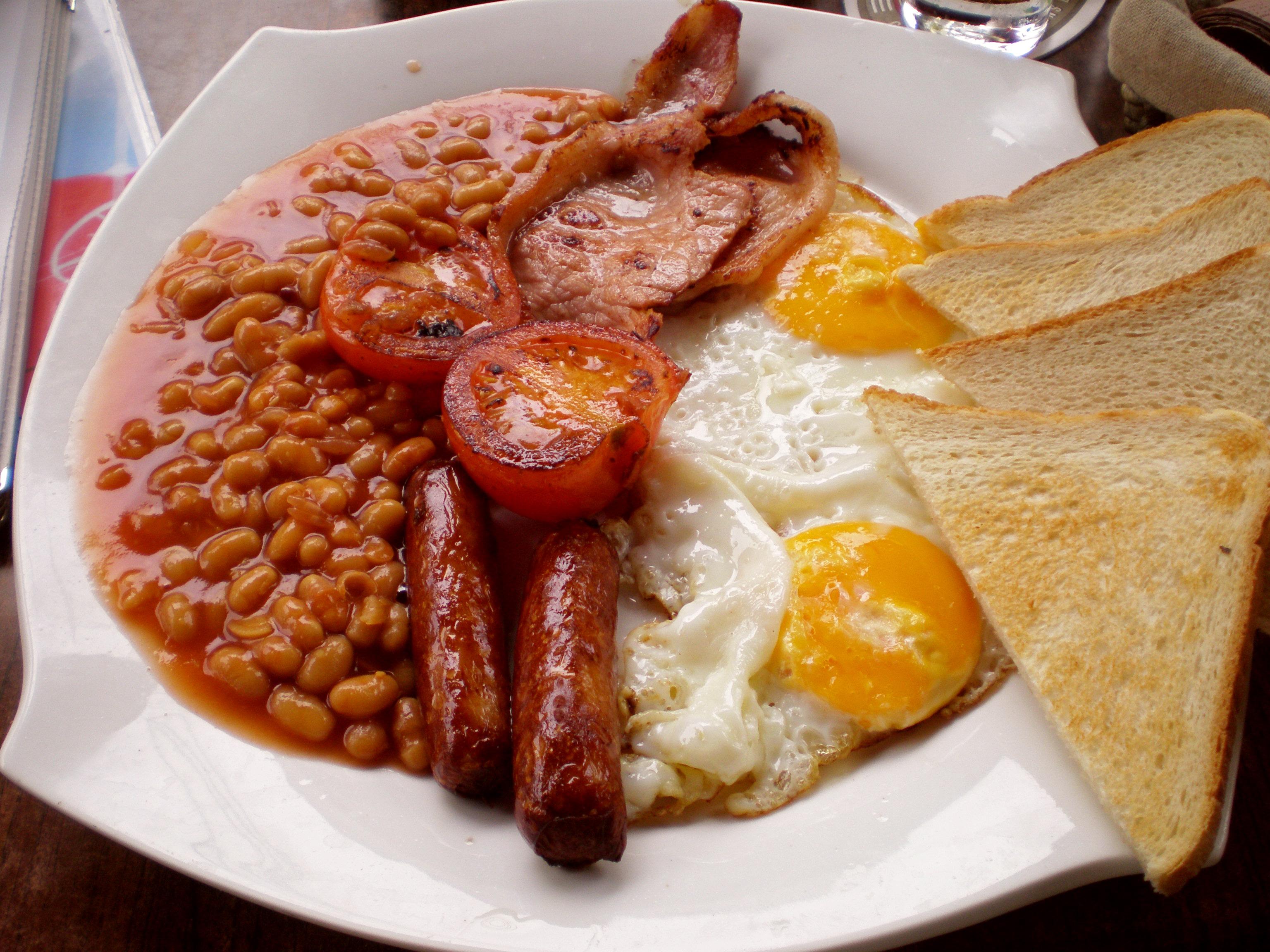 Таким представляет традиционный английский завтрак Википедия