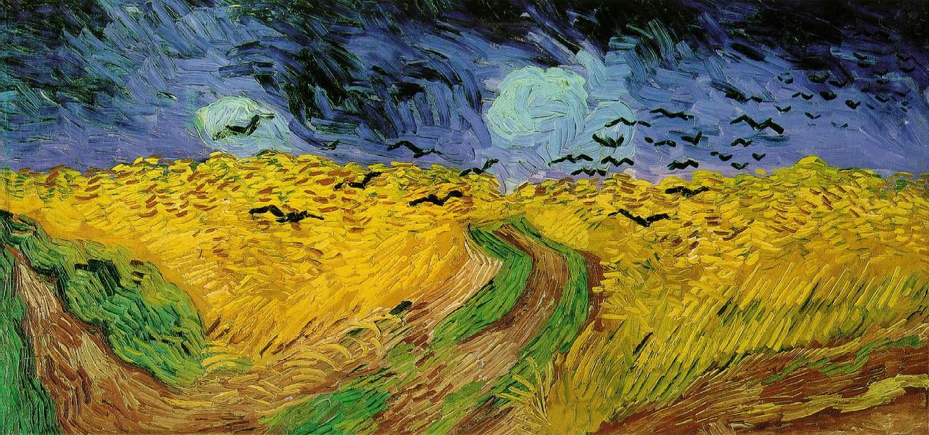 Винсент Ван Гог (1853-1880). Пшеничное поле с воронами. 1890. Холст, масло. 53х105 см. Музей Винсента Ван Гога, Амтердам.
