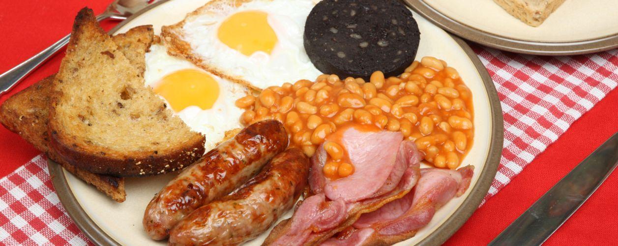 Минимальный объем английского завтрака. Источник фото: Chef Chops http://www.chefchops.com