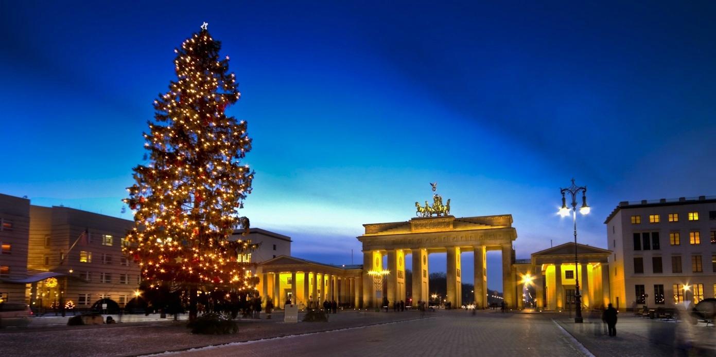 Рождество у Бранденбургских ворот.