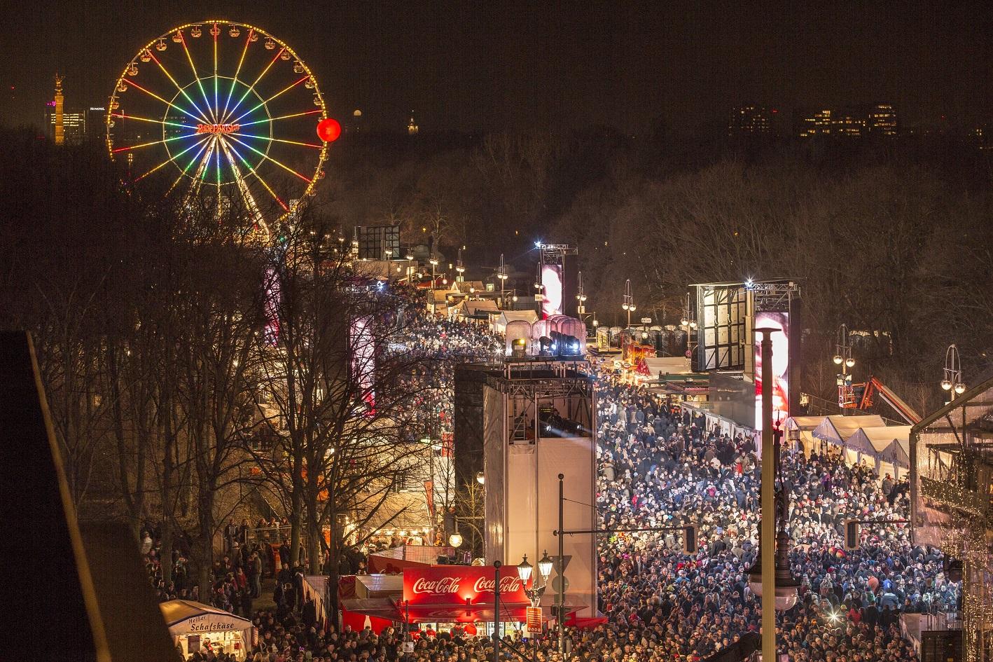 Новогодняя ночь в Берлине.
