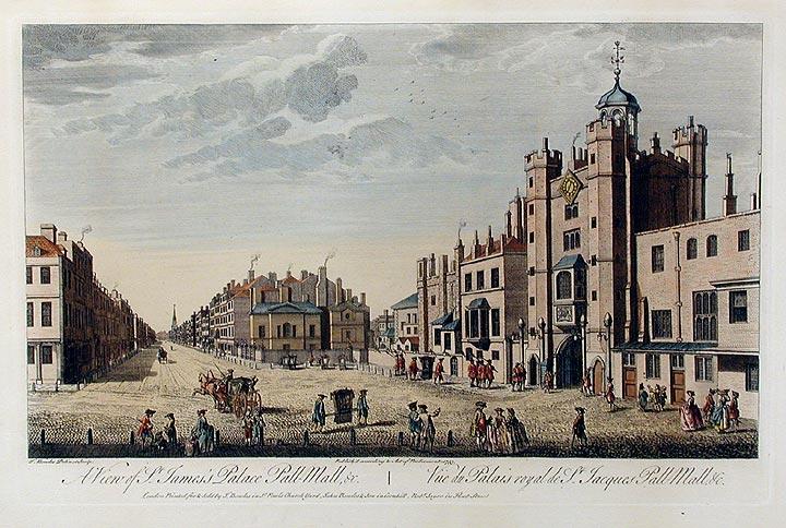Томас Боулз. Вид на Сент-Джеймсский дворец и соседние дома. 1763. Источник: http://news.vse42.ru/