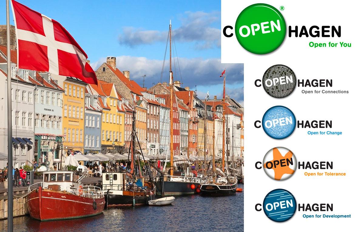 Упрощенный плакат кампании «cOPENhagen» с упором на линейку слоганов.