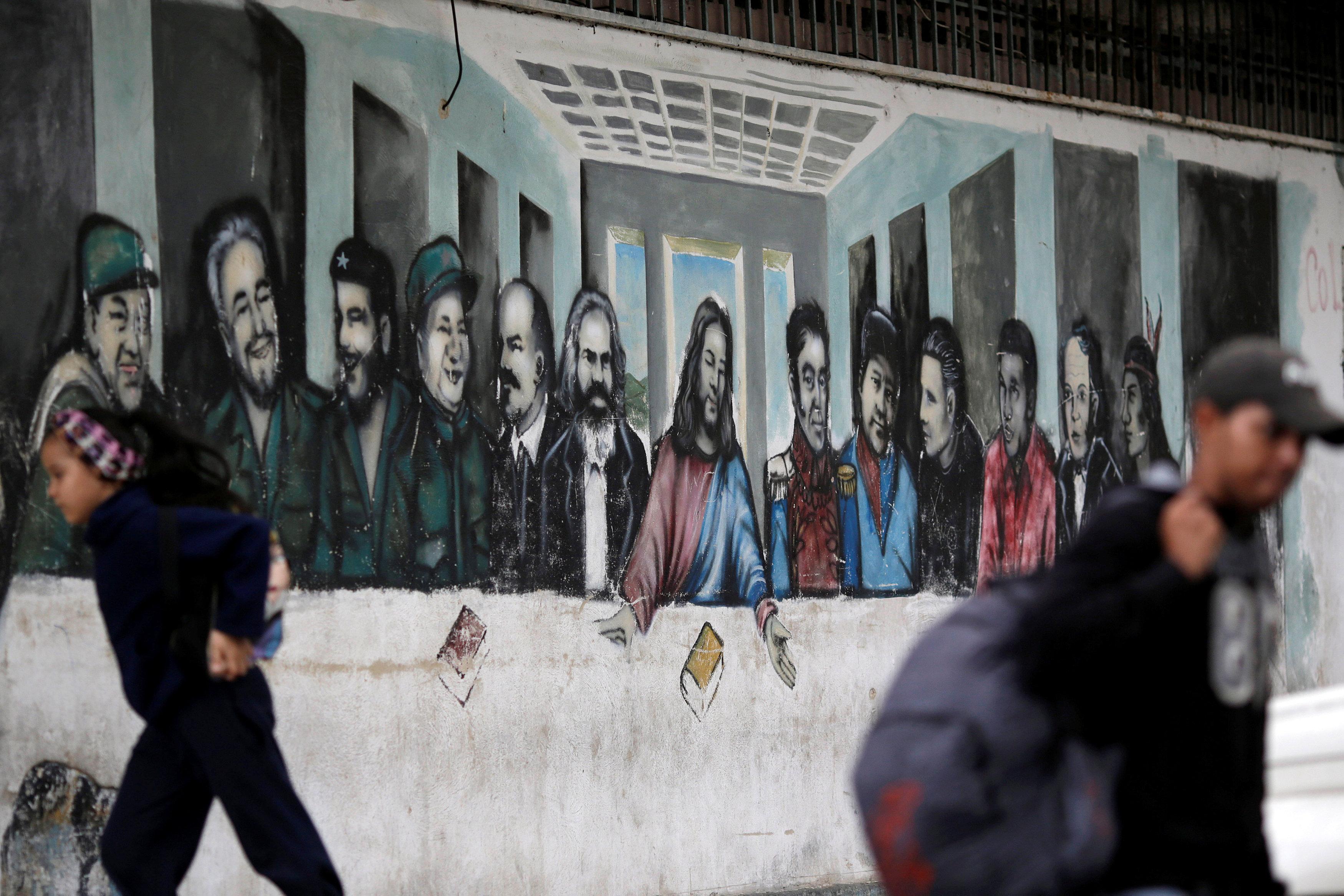Марксистская «Тайная вечеря». Каракас, Венесуэла. 30 ноября 2016 года.