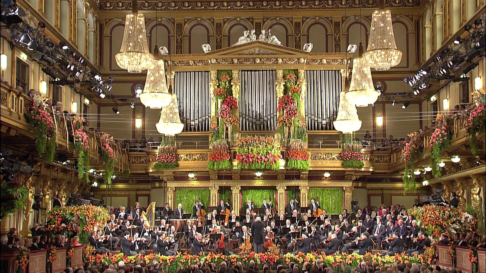 Новогодний концерт Венского филармонического оркестра.