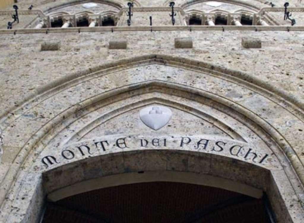 Знаменитый главный вход в банк Monte dei Paschi di Siena с надписью, выбитой в 1472 году. Источник: http://intermarketandmore.finanza.com
