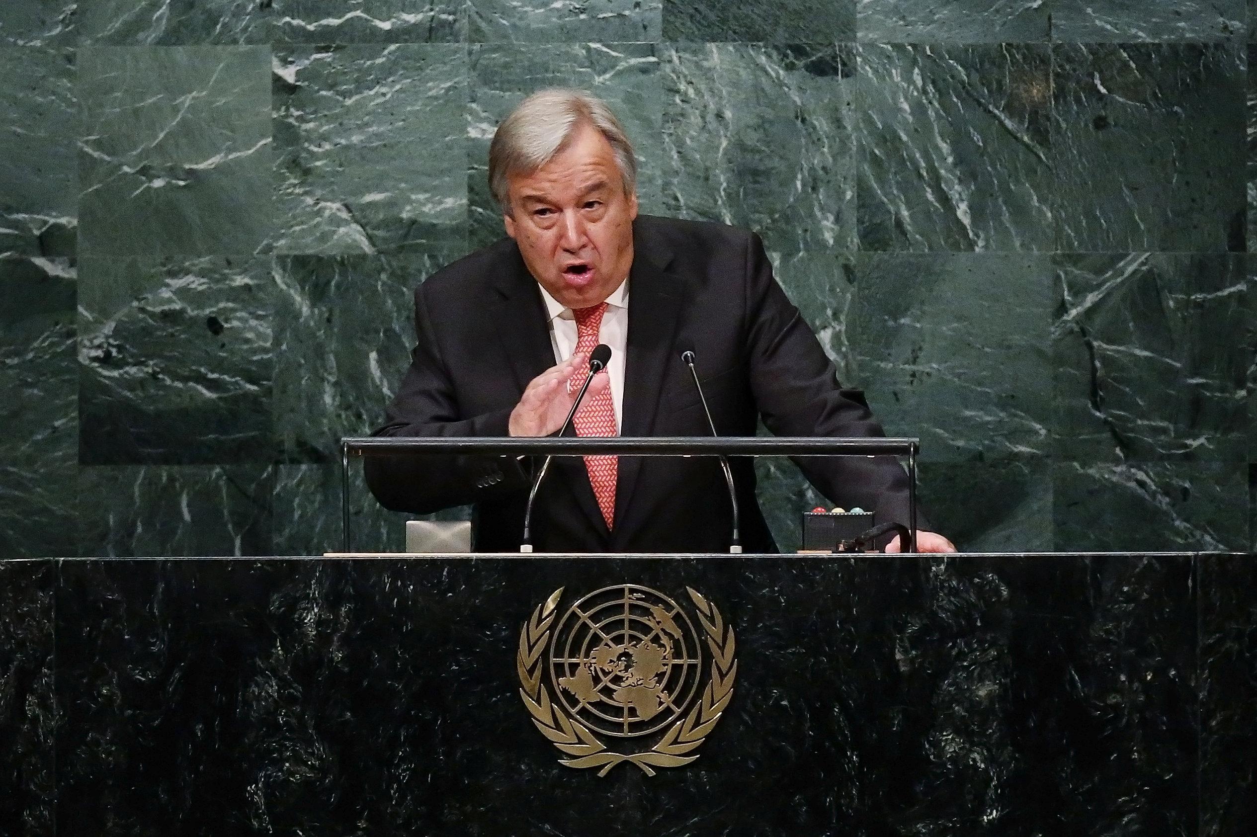 Выступления Антониу Гуттериша в ООН всегда становились заметными событиями. Источник http://sputnik.by/