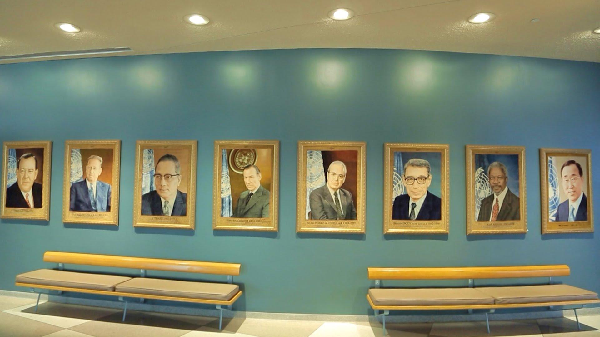 Галерея Генеральных секретарей ООН теперь дополнится девятым портретом. Источник https://i.ytimg.com/