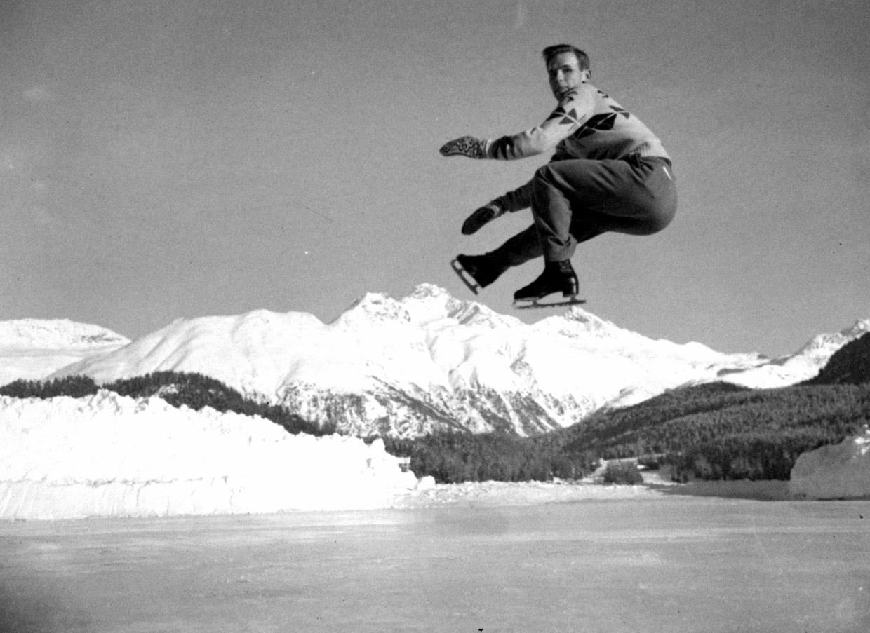 Участник Олимпийского турнира фигуристов в Санкт-Морице. 19 января 1948 года. Источник http://www.fresher.ru/
