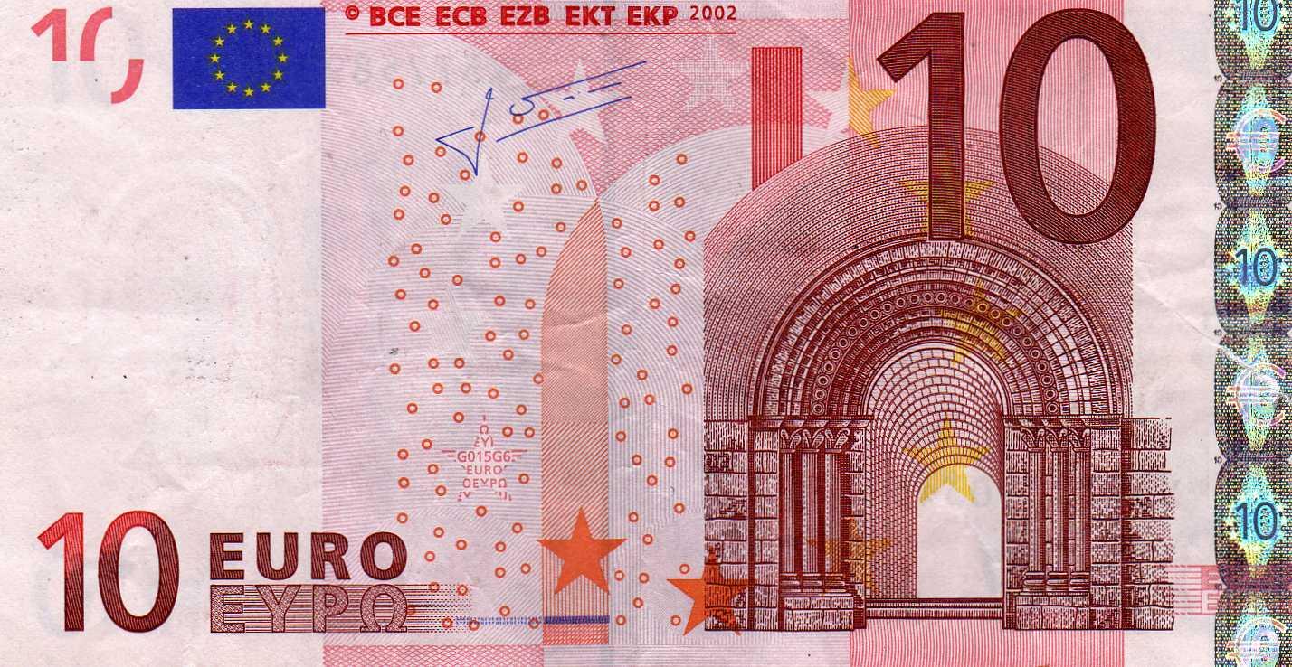 Кто изображен на купюрах евро 10 рублей 1903