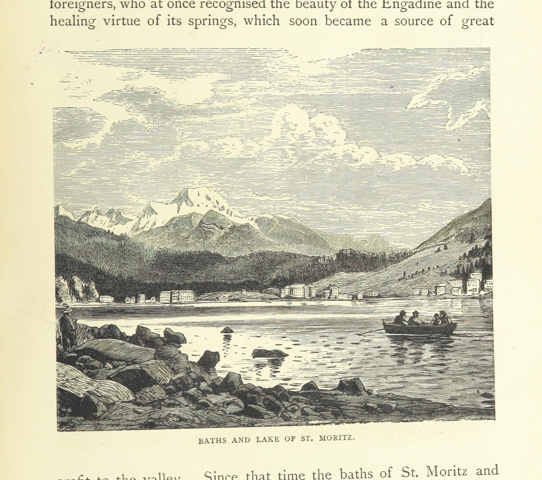 В XIX веке Санкт-Мориц выглядел несколько иначе Источник https://upload.wikimedia.org/