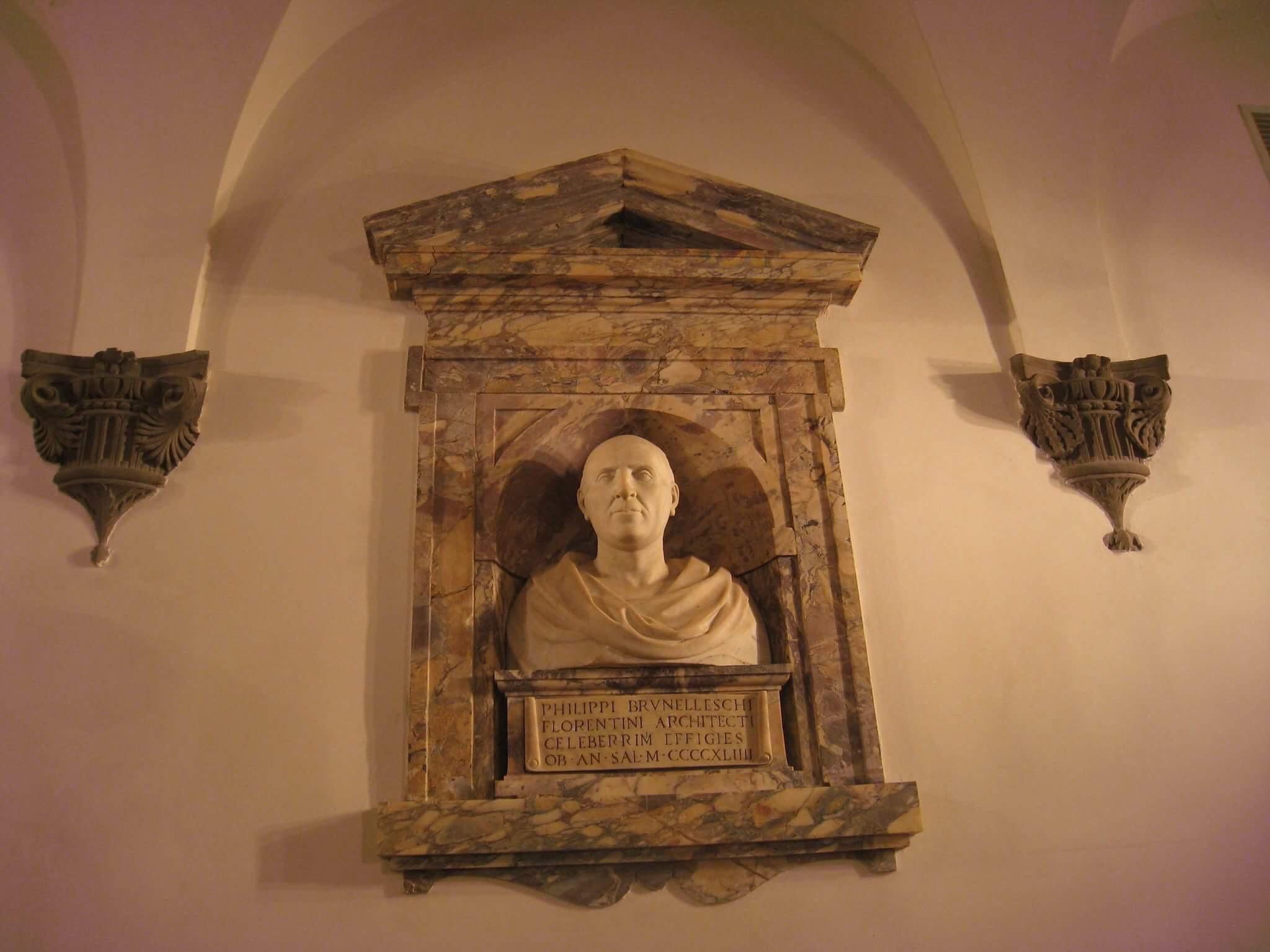Бюст Филиппа Брунллески в Музее Собора во Флоренции.