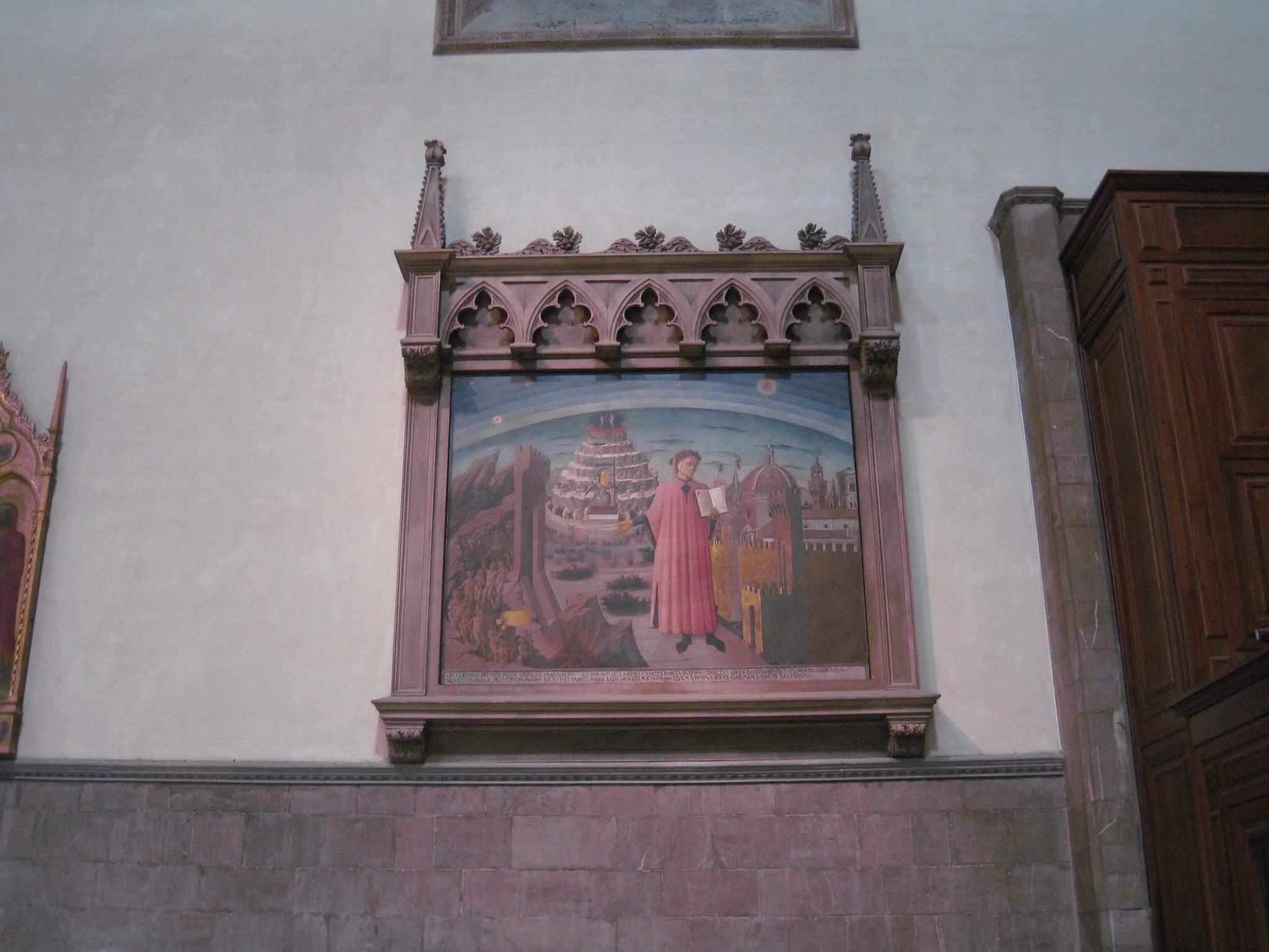 """Картина """"Данте и три града"""" притягивает в Собор любителей тайных шифров и исторических загадок."""