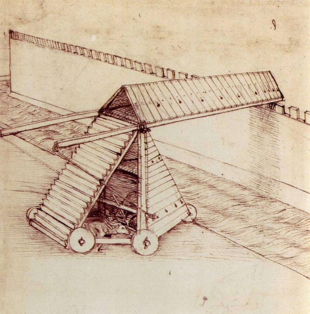 Осадная машина. Рисунок Леонардо да Винчи. Источник https://salik.biz/