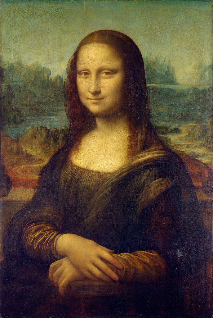 Леонардо да Винчи. Мона Лиза. 1503-1519. Масло, дерево. 76,8х53 см. Лувр, Париж. Источник https://upload.wikimedia.org/