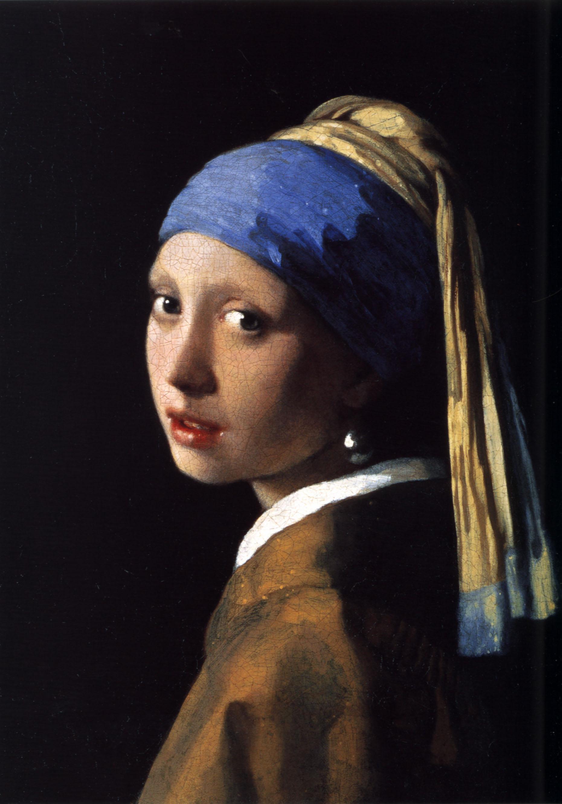 Ян Вермеер. Девушка с жемчужной сережкой. Ок. 1665. Масло, холст. 44,5х39 см. Маурицхейс, Гаага. Источник https://upload.wikimedia.org/