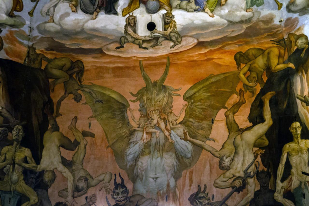 Дьявол, пожирающий грешников, - явное влияние Босха. Источник http://24.media.tumblr.com/