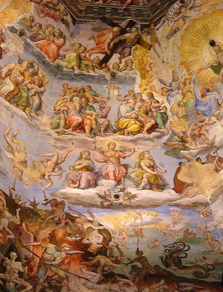 В четвертом ряду (второй сверху) - ангелы с крестом, одним из орудий Страстей Христовых. Источник https://s-media-cache-ak0.pinimg.com/