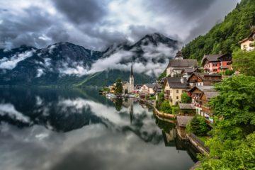 Гальштат в вечерних облачках. Источник  http://www.wantseeproject.com/