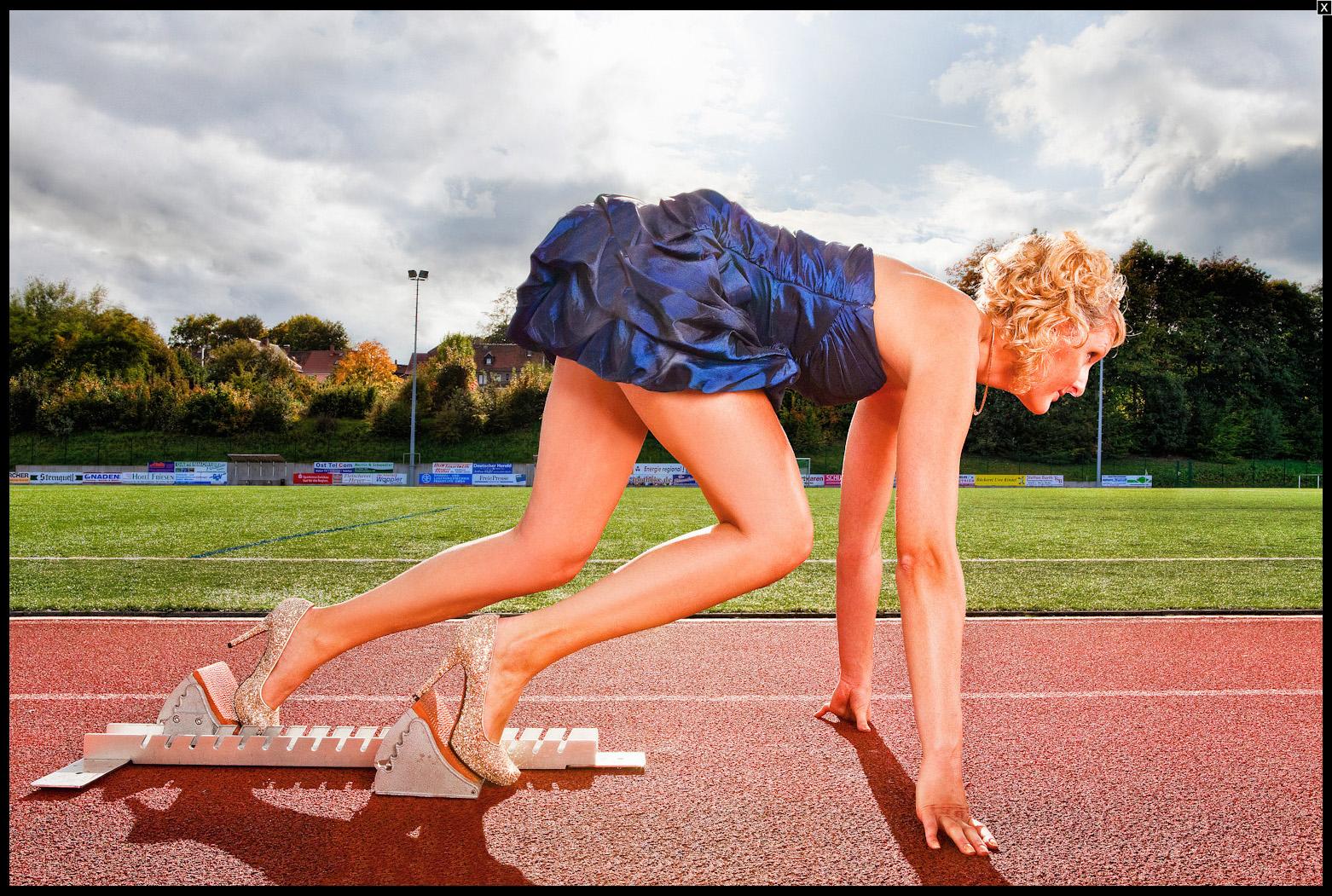 Джулия плечер на старте. Источник http://richardbradbury.com/