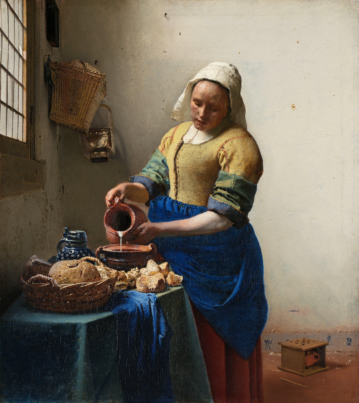 Ян Вермеер. Молочница. 1858-1860. Масло, холст. 45,5х41 см. Рейхсмюзеум, Амстердам, Голландия. Источник https://upload.wikimedia.org/