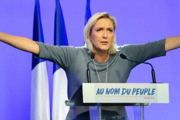 Марин Ле Пен выступает на съезде партии «Национальный фронт» 18 сентября 2016 года. Автор фото: Франк Пеннан/AFP. Фото опубликовано европейским сетевым изданием politico.eu