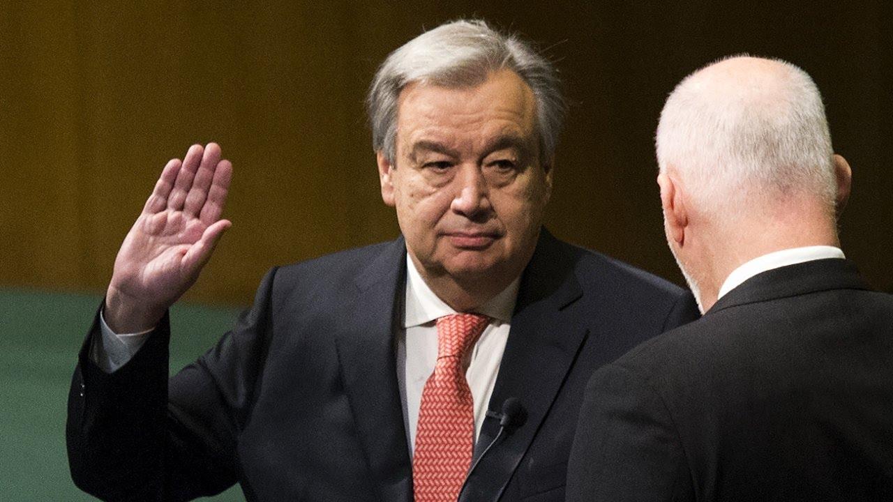 Антониу Гуттериш принес присягу и приступил к работе в должности Генерального секретаря ООН. Источник https://i.ytimg.com/